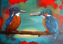 Acryl op canvas, 70x100 cm, vraagprijs €850